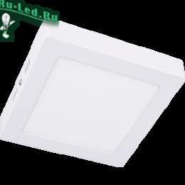 накладной светильник ecola отлично смотрится на стене и заменяет бра Ecola LED downlight накладной Квадратный даунлайт с драйвером 12W 220V 6500K 170x170x32