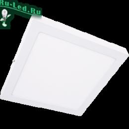 светильники потолочные настенные накладные удовлетворят вкусы любого эстета или обывателя Ecola LED downlight накладной Квадратный даунлайт с драйвером 24W 220V 6500K 300x300x32