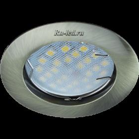светильники точечные потолочные Ecola MR16 DL100 GU5.3 Светильник встр. литой Черненая Бронза 24x75