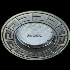светодиодные светильники потолочные Ecola MR16 DL110А GU5.3 Светильник встр. литой Антик Черненая Бронза 24x86 (кd74)