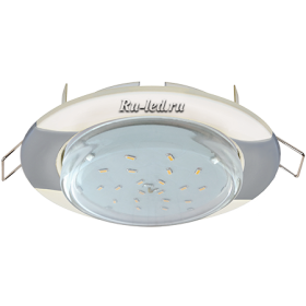 """светодиодные светильники цены москве Ecola GX53 H4 светильник встраив. без рефл. """"Волна"""" жемчуг-серебро 38x116 (к+)"""