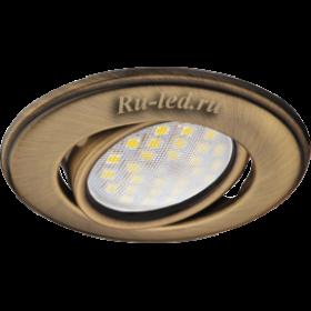 купить встроенные светильники  Ecola MR16 DH03 GU5.3 Светильник встр. поворотный выпуклый (скрытый крепеж лампы) Бронза 25x88 (кd74)