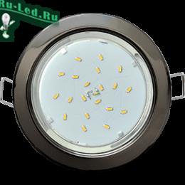 Купить дешево встраиваемые светильники только у нас для натяжных и подвесных потолков Ecola GX53 H4 светильник встраив. без рефл. Черный хром 38x106 - 10 pack (кd102)
