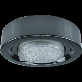 Купить светодиодные точечные светильники Ecola GX53 FT3073 Светильник Накладной Широкий Черный хром 32x130