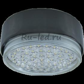 точечные светильники купить в москве Ecola GX53 FT8073 светильник накладной черный хром 25x82