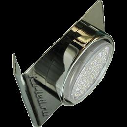 Встроенные мебельные светильники Ecola GX53-N82 светильник настенный угловой черный хром 52*130*111