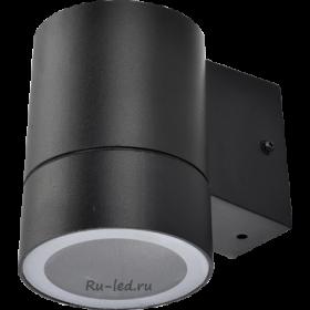 светильник Ecola GX53 LED 8003A светильник накладной IP65 прозрачный Цилиндр металл. 1*GX53 Черный 114x140x90