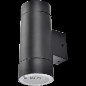 накладной светильник gx53 можно использовать не только на улице, но и во влажных помещениях Ecola GX53 LED 8013A светильник накладной IP65 прозрачный Цилиндр металл. 2*GX53 Черный 205x140x90