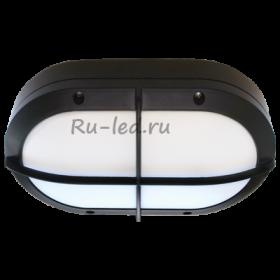 потолочный светильник ванна светодиодные Ecola GX53 LED B4148S светильник накладной IP65 матовый Овал с решеткой алюмин. 2*GX53 Черный 215x135x65