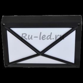 точечные светильники потолков ванной Ecola GX53 LED B4157S светильник накладной IP65 матовый Прямоугольник/Пирамида алюмин. 2*GX53 Черный 215x135x85