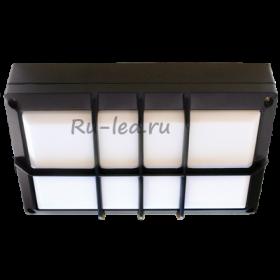 накладной светильник на потолок Ecola GX53 LED B4158S светильник накладной IP65 матовый Прямоугольник с решеткой алюмин. 2*GX53 Черный 215x135x65