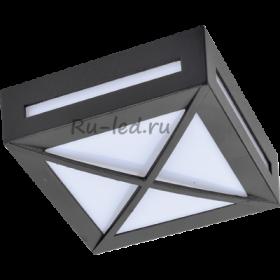 уличные светодиодные светильники цена Ecola GX53 LED 3083W светильник накладной IP65 матовый Квадрат с решеткой металл. 1*GX53 Черный 136x136x55