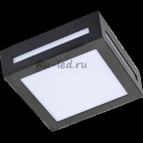 точечные светильники ванну потолок Ecola GX53 LED 3082W светильник накладной IP65 матовый Квадрат металл. 1*GX53 Черный 136x136x55