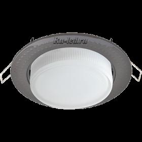 """светильники для натяжных потолков цена Ecola GX53 H4 светильник встраив. без рефл. """"Чеканка"""" Черный хром 43x115 (к+)"""