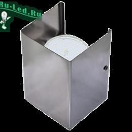 светильник освещение стен можно приобрести по доступной цене Ecola GX53-N52 светильник настенный бра прямоугольный черный хром 2* GX53 100х140х90 (1 из цв. уп. по 2)
