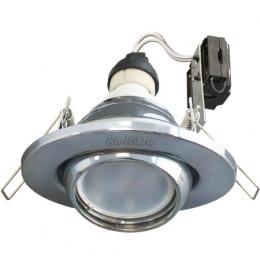 Ecola GU10 FT3011 светильник встраиваемый поворотный хром 40x110
