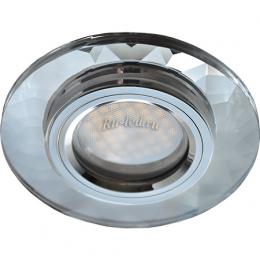 встроенные светильники цена Ecola MR16 DL1654 GU5.3 Glass Стекло Круг граненый Хром / Хром 25x90