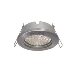 Уличные встраиваемые светильники пригодятся вам при оформлении освещения на дачном участке Ecola MR16 DL80 GU5.3 светильник встр. защищенный IP65 хром 32x93