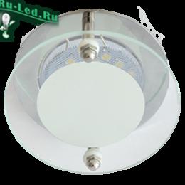 ecola mr16 led уютный точечный светильник для встроенной установки Ecola MR16 DL201 GU5.3 Glass Круг со стеклом Прозрачный и Матовый / Хром 45x80