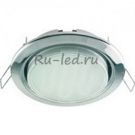Купить светодиодные светильники потолочные встраиваемые Ecola GX53 H4 Downlight without reflector_chrome (светильник) 38x106 - 2pack (кd102)