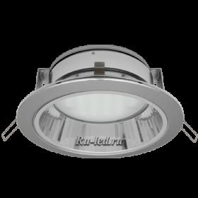 купить встроенный светильник москва, где вас ждут самые привлекательные цены Ecola GX70-H6R светильник хром встр. с рефл. 65x171