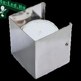 Светильник с цоколем gx53 стильно и вместе с тем невероятно элегантный Ecola GX53-N51 светильник настенный бра прямоугольный хром 1* GX53 100х100х90 (1 из цв. уп. по 2)