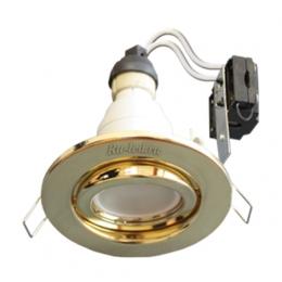Ecola GU10 FT3008 светильник встраиваемый поворотный золото 40x105
