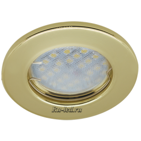 Светильники для натяжных потолков светодиодные Ecola Light MR16 DL90 GU5.3 Светильник встр. плоский Золото 30x80 (кd74)
