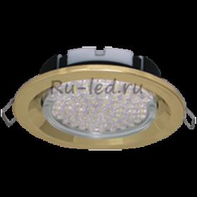Встраиваемые светильники ecola gx53 Ecola GX53 FT3225 светильник встраиваемый глубокий легкий золото 27x109
