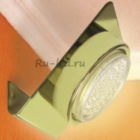 Светильники светодиодные потолочные накладные круглые Ecola GX53-N82 светильник настенный угловой золото 52*130*111
