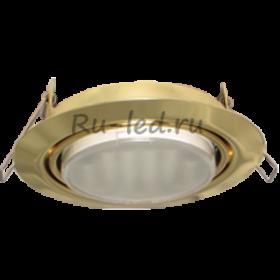 встроенные светильники москва Ecola GX53 FT9073 светильник встраиваемый поворотный золото 40x120