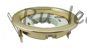 светодиодные led светильники цена Ecola GX53 H4 Downlight without reflector_gold (светильник) 38x106 - 2pack (кd102)