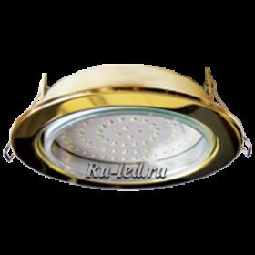 EcolaGX70 станет отличным дополнением интерьера вашей комнаты и не требует специальной теплоизоляции Ecola GX70-H5 светильник золото встр. без рефл. 53x151 (кd135)
