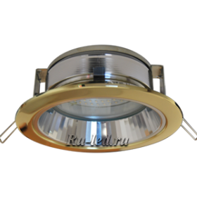 Купить потолочные светильники в интернет магазине следует для комфорта и красоты помещения. Ecola GX70-H6R светильник золото встр. с рефл. 65x171