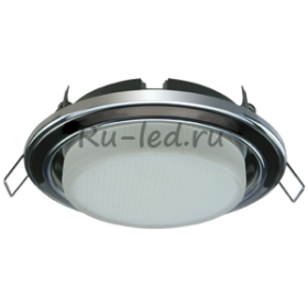 потолочные светильники дома купить Ecola GX53 H4 светильник встраив. без рефл. 2 цв. хром-черный хром-хром 38х106 (к+)