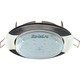 """купить точечные светильники потолочные встраиваемые Ecola GX53 H4 светильник встраив. без рефл. """"Волна"""" черный хром-жемчуг 38x116 (к+)"""