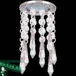 """Для того, чтобы сделать интерьер особенно притягательным, необходимо светильники mr16 купить Ecola MR16 CR1005 GU5.3 Glass Стекло Круг """"Восточный стиль"""" Прозрачный / Хром 84x175"""