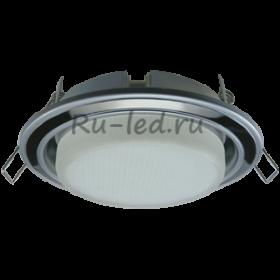 Купить офисные светильники потолочные Ecola GX53 H4 светильник встраив. без рефл. 2 цв. серебро-черный хром-серебро 38х106 (к+)
