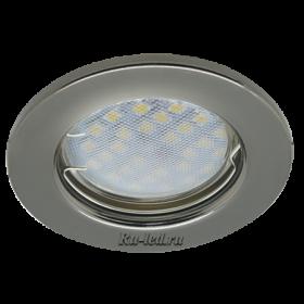 светильники потолочные встраиваемые цена Ecola Light MR16 DL90 GU5.3 Светильник встр. плоский Черный Хром 30x80 (кd74)