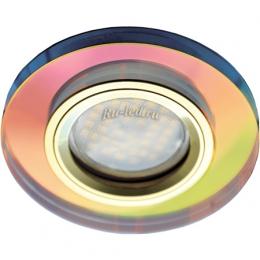 Светильники точечного света Ecola MR16 DL1650 GU5.3 Glass Стекло Круг Мультиколор / Золото 25x95 (кd74)