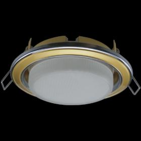 точечные светильники для потолков цена Ecola GX53 H4 светильник встраив. без рефл. 2 цв. хром-золото-хром 38x106 (к+)