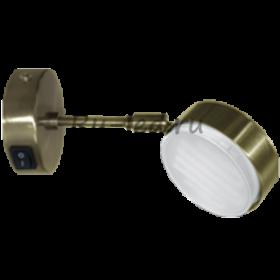 Светильник накладной цена Ecola GX53 FT4173 cветильник поворотный на среднем кроншт. черненая бронза 210x80