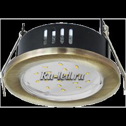 с помощью светильник ecola gx53 ip65 вы сможете улучшить интерьер любого помещения с повышенной влажностью Ecola GX53 H9 защищенный IP65 светильник встраив. без рефл. черненая бронза 98х55