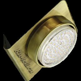 Точечные светодиодные светильники для потолков Ecola GX53-N82 светильник настенный угловой черненая бронза 52*130*111