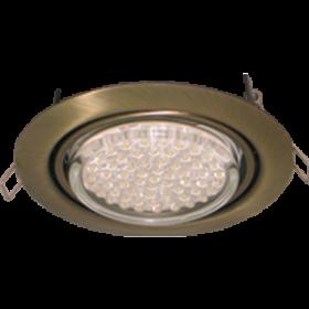 поворотный светильник gx53 Ecola GX53 FT9073 светильник встраиваемый поворотный черненая бронза (antique brass) 40x120