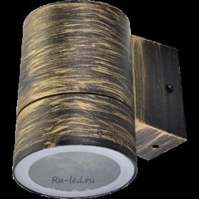 Светильники Ecola GX53 LED 8003A светильник накладной IP65 прозрачный Цилиндр металл. 1*GX53 Черненая бронза 114x140x90