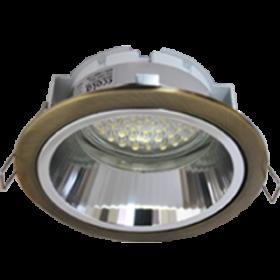 светильник встроенный круглый Ecola GX53 H2R Downlight светильник встраив. с рефлектором черненая бронза (antique brass) 58x125
