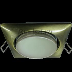 светильники натяжных потолков Москве Ecola GX53 H4 Square светильник квадратный без рефл. Черненая бронза 107x41 (к+)