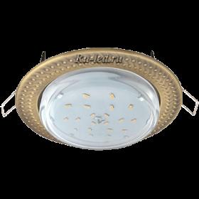 """Встраиваемый точечный светильник купить Ecola GX53 H4 светильник встраив. без рефл. """"Чеканка"""" Черненая бронза 43x115 (к+)"""