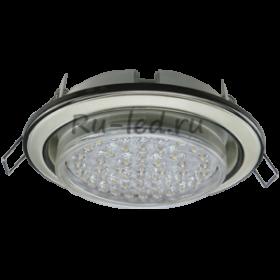 встраиваемые светильники для натяжного потолка светодиодные Ecola GX53 H4 светильник встраив. без рефл. 2 цв. черный хром-жемчуг-черный хром 38х106 (к+)